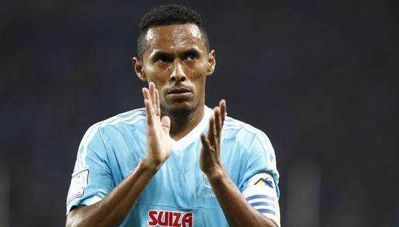 Carlos Lobarón, capitán de Sporting Cristal, rechaza rumores sobre una supuesta división en el equipo rimense. (USI)