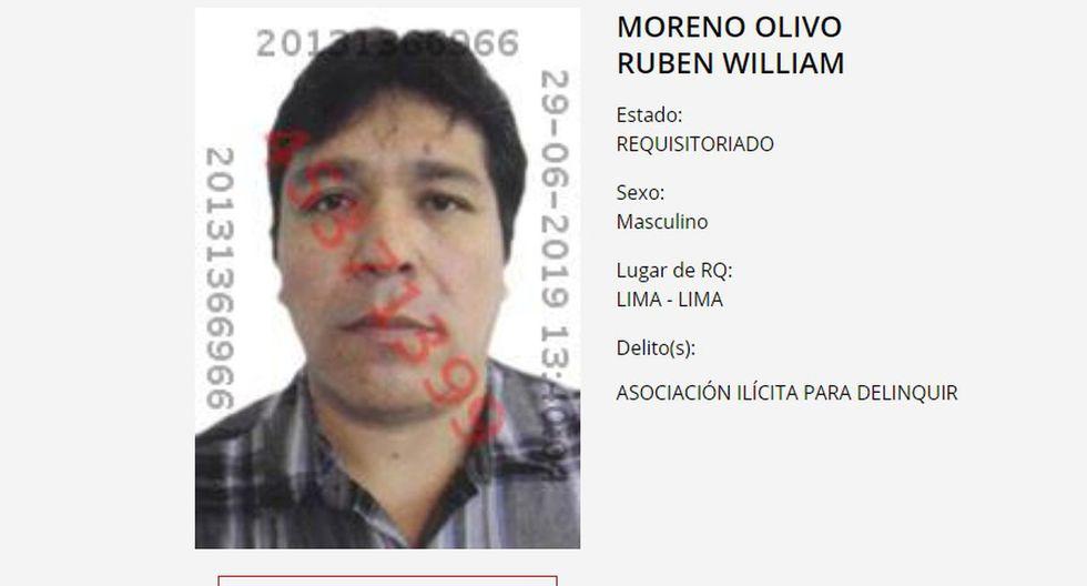 Rubén Moreno está implicado en el asesinato de Ezequiel Nolasco, ex consejero regional de Áncash. (Foto: Captura/Canal N)