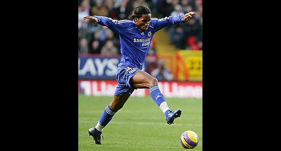 10.- Didier Drogba (Chelsea), en 41.5 millones de dólares. (Foto: Agencias)
