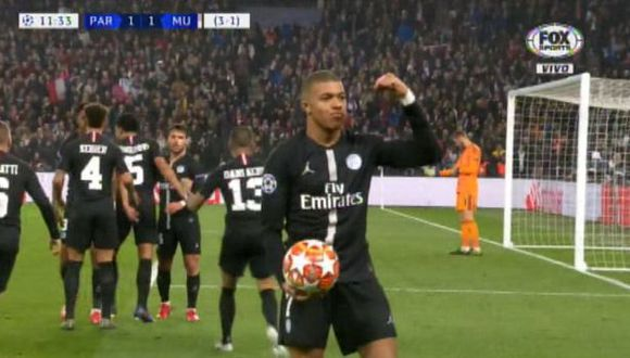 Juan Bernat anotó el gol para el 1-1 ante Manchester United. (Captura: Fox Sports)