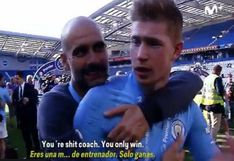 Kevin de Bruyne y su efusivo halago a Pep Guardiola como entrenador [VIDEO]
