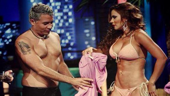 Mathías Brivio con Andrea Rincón en las grabaciones. (Difusión)