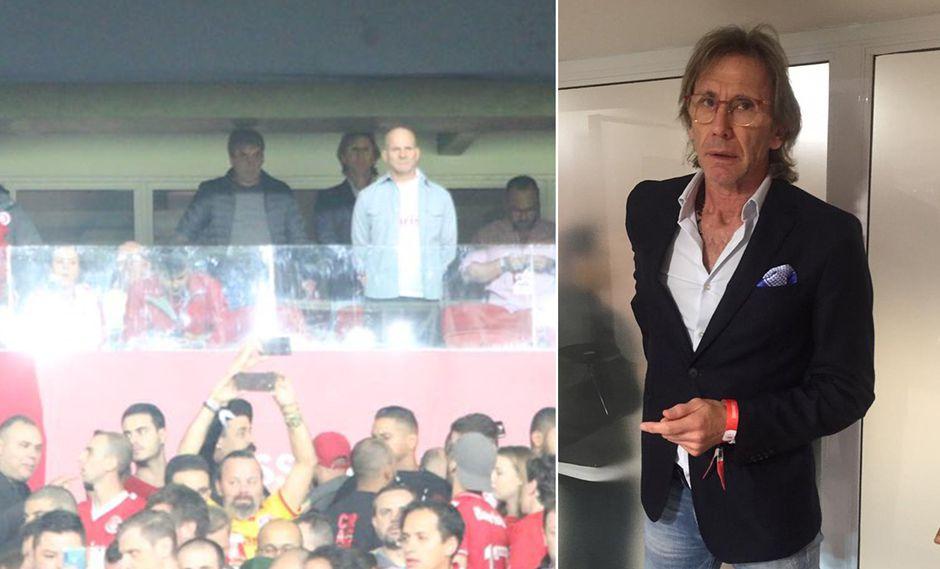 Ricardo Gareca vio a Paolo Guerrero en vivo desde el palco del Beira Rio
