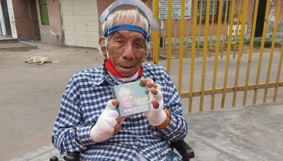 Guillermo Campos: cómico vende sus discos en calles para comprar sus medicamentos. (Foto: @Salvemos Comas).