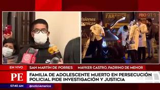 San Miguel: tio de menor muerto en persecución policial pide investigación y justicia