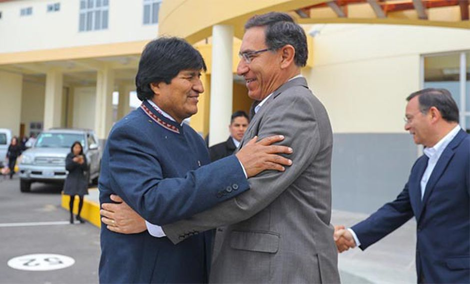 Los presidentes Evo Morales (Bolivia) y Martín Vizcarra (Perú) participarán en el V Gabinete Binacional. (Foto: Presidencia Perú)