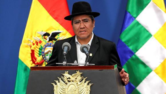 """""""Lo que se tiene que demostrar en esta auditoría es sí hubo fraude o no hubo fraude"""", dijo el canciller de Bolivia, Diego Pary. (Foto: EFE)"""