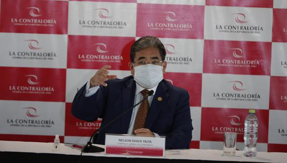 El Contralor dio alcances de los avances de su investigación sobre el caso vacunagate. (Foto: Giancarlo Ávila / @photo.gec)