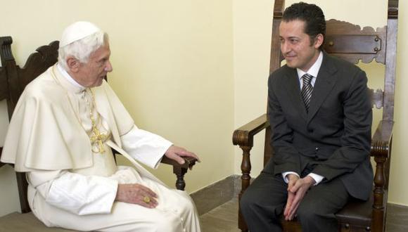 Pontífice visitó a Gabriele. (Reuters)