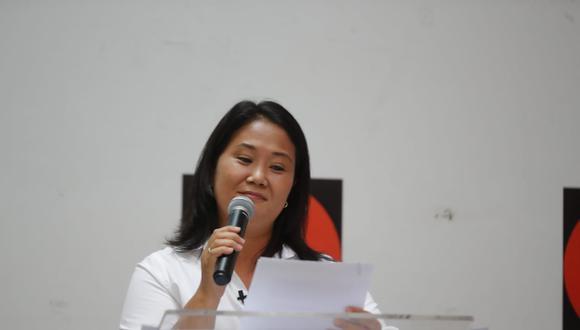 Keiko Fujimori no quiso precisar con qué agrupaciones política mantiene conversaciones con miras a la segunda vuelta electoral. (Foto: Giancarlo Avila /@photo.gec)