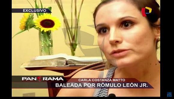 Todo fue muy rápido. Carla Mattos no conoce los motivos de Rómulo León Romero para dispararle. (Captura de TV)