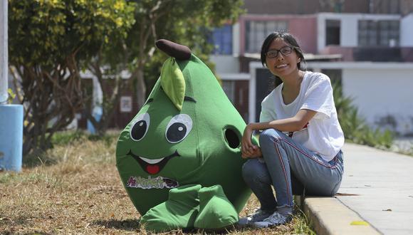 La Paltita Emocionada es la mascota de AsMarket, el emprendimiento de la hermana de Rubí. (Foto: Manuel Melgar)