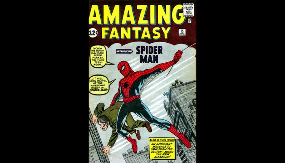 1962: En Amazing Fantasy Spiderman, el primero en dibujar a Spiderman fue Steve Ditko. Esta versión dio inicio al look más conocido del héroe. (Marvel)