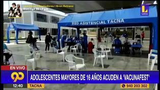 Tacna: Menores de 14 a 17 años se vacunaron contra la Covid-19