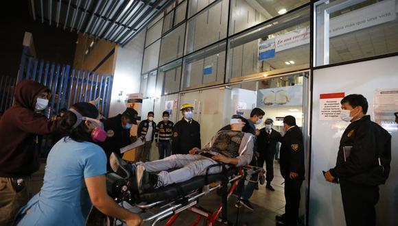Heridos llegaron al hospital Almenara y otros.