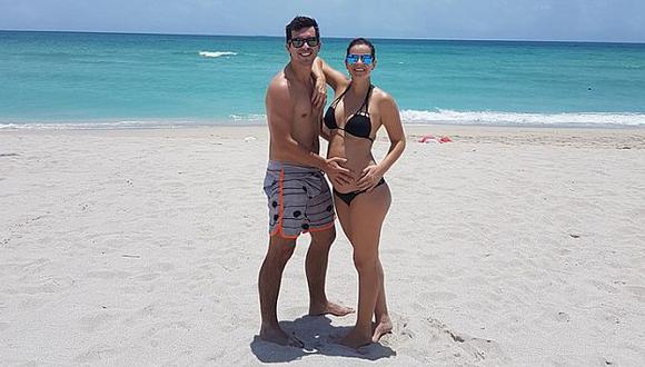 Jesús Alzamora confirmó que tendrá un hijo con la modelo María Paz Gonzales-Vigil. (Facebook)