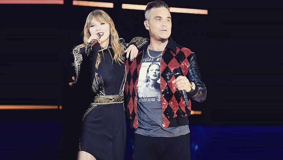 La cantante compartió fotografías junto a Robbie Williams. (Créditos: Instagram)