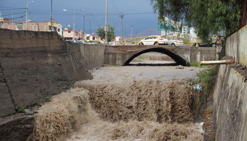 Arequipa:Inundaciones por lluvias causan destrucción. (Miguel Idme)