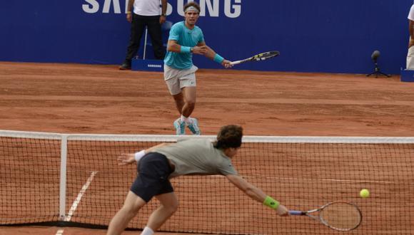 DUELO VIBRANTE. Nadal y Ferrer jugaron a toda máquina. (EFE)