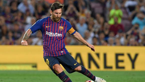 Lionel Messi y los elogios de Ernesto Valverde, tras doblete con el Barcelona. (Foto: AFP)