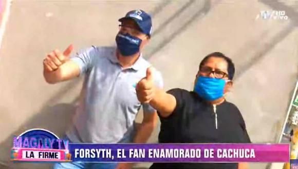 George Forsyth llevó ayuda a 'Cachuca', líder de Los Mojarras. (Foto: Captura)