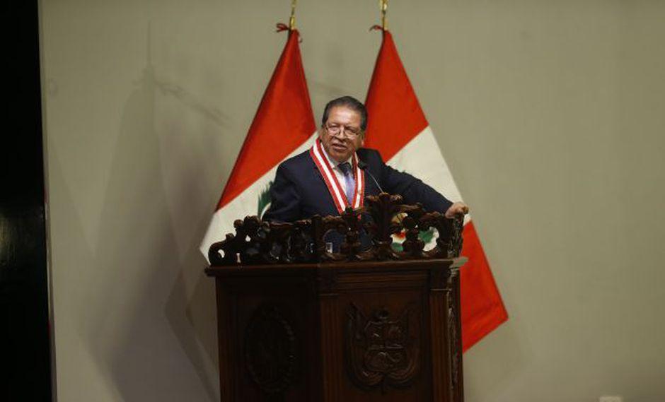 El ex fiscal de la Nación Pablo Sánchez marcha la cancha sobre la continuidad de Pedro Chávarry. (Perú21)