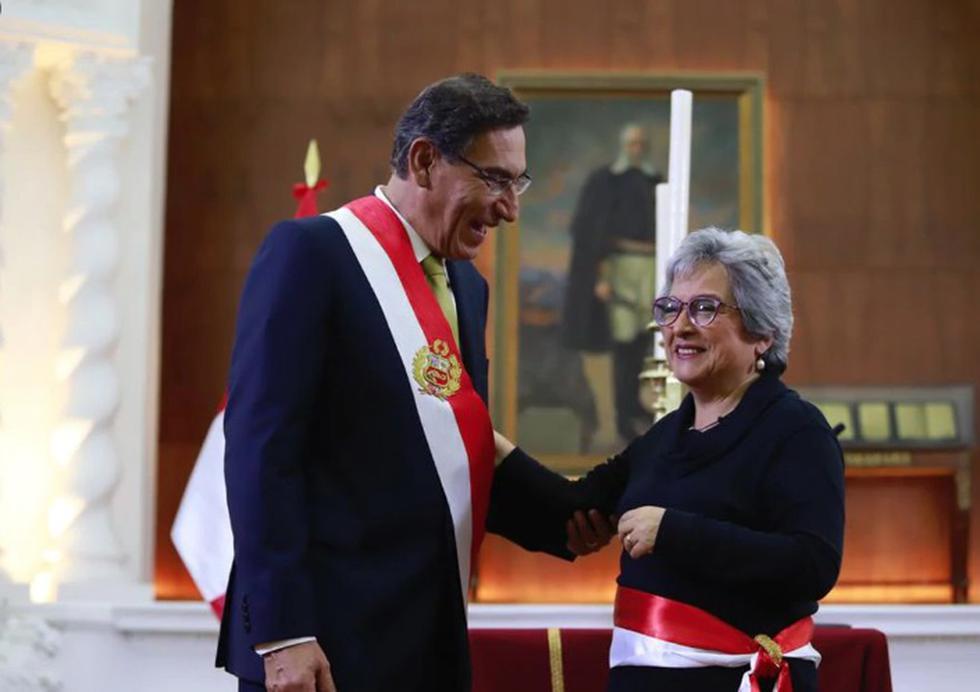 Sonia Guillén luego de jurar como ministra de Cultura. (Foto: Presidencia)