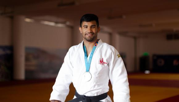 Alonso Wong logró la medalla de plata en judo. (Foto: Renzo Salazar)