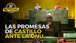 Las promesas de Pedro Castillo esta vez frente a la ONU