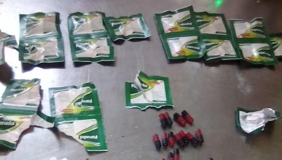 Lambayeque: las autoridades señalaron que esta es una de las modalidades que usan los internos para ingresar sustancias ilícitas y objetos prohibidos. (Foto: INPE)
