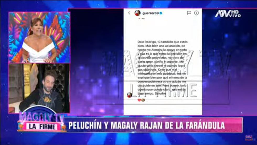 Paolo Guerrero envía mensaje a 'Peluchín' aclarando que no es machista. (Foto: Captura de pantalla ATV)