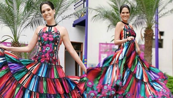 Lorena Álvarez lució un vestido creado por la diseñadora peruana Claudia Jiménez. (Instagram)
