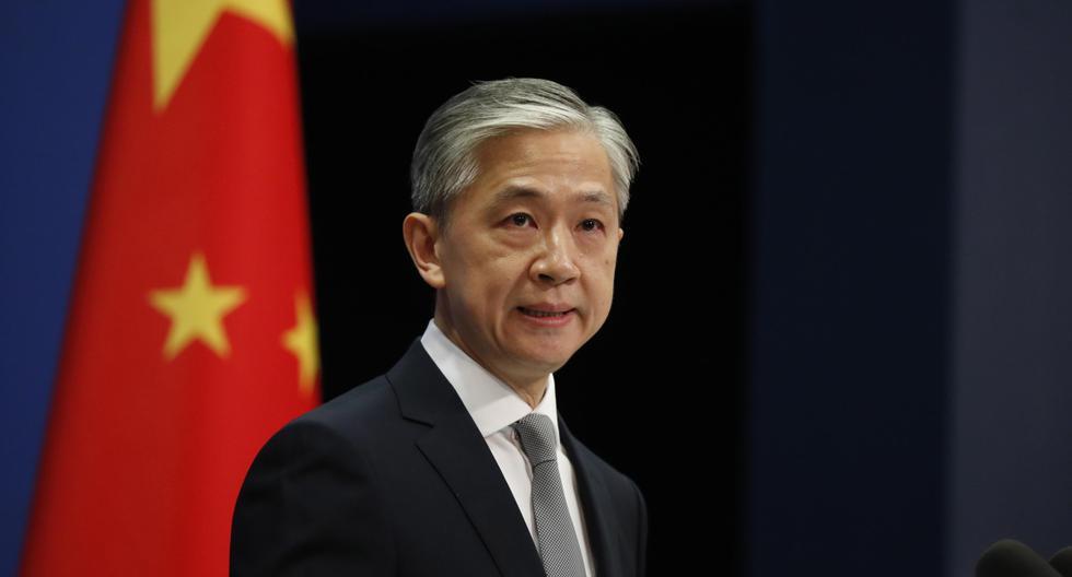 El portavoz del Ministerio de Relaciones Exteriores de China, Wang Wenbin, habla durante una conferencia de prensa en Beijing, China. Imagen del 23 de julio de 2020. (EFE/EPA/WU HONG).