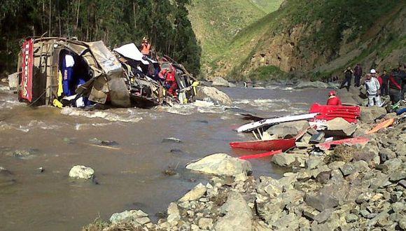 Accidente ocurrió esta madrugada en Otuzco. (Alan Benites)