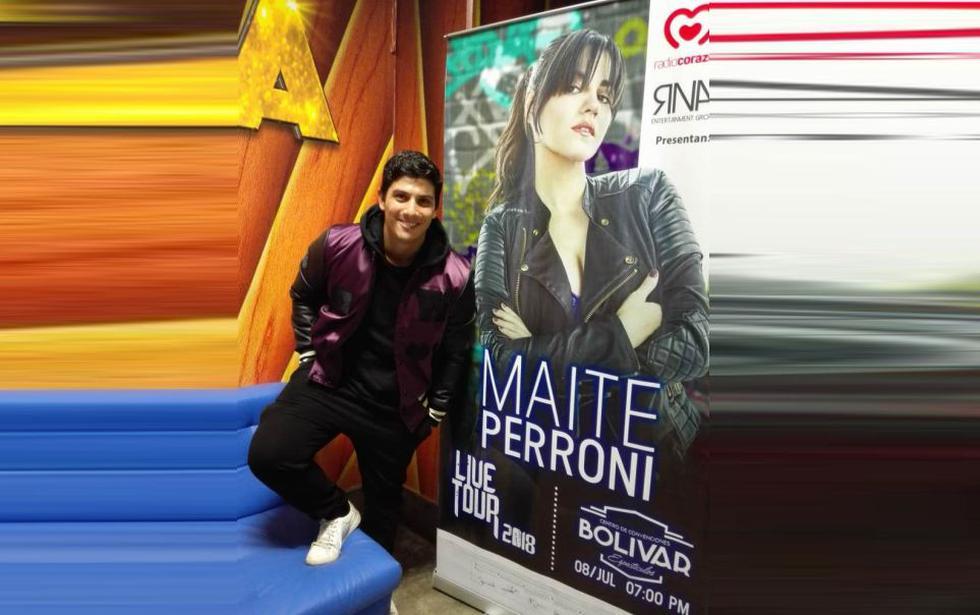 El actor y cantante nacional Luis Baca será el invitado especial en el concierto de Maite Perroni. (Créditos: USI)