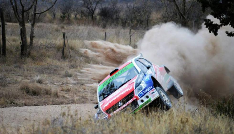 Nicolás Fuchs sufrió un despiste en el Campeonato Argentino de Rally. (Facebook/Agustín Córdoba)