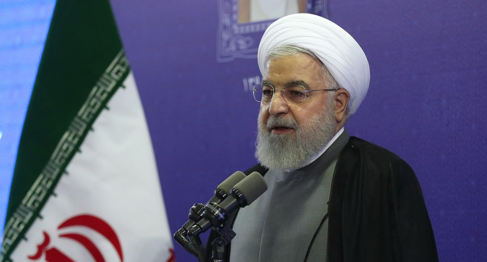 """""""Tienen miedo de las entrevistas de nuestro ministro de Relaciones Exteriores"""", indició Hassan Rohani. (Fuente: AFP)"""