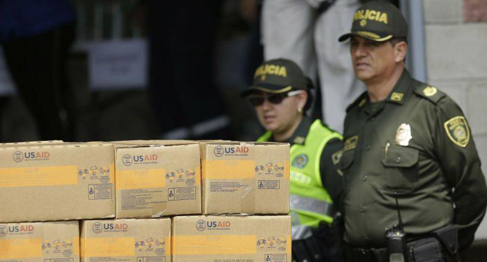 Cúcuta se ha convertido en un centro de acopio de ayuda humanitaria de Estados Unidos. (Foto: AP)