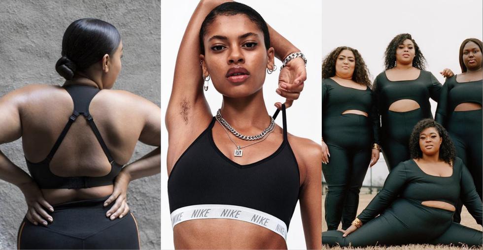 Nike apuesta por una colección de prendas inclusivas y modelos con vello en axilas. (Instagram)