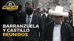 Pedro Castillo se reunió con Luis Barranzuela en Palacio