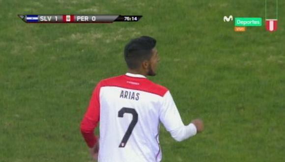 Alexis Arias reemplazó a Yordy Reyna en el segundo tiempo. (Captura: Movistar Deportes)