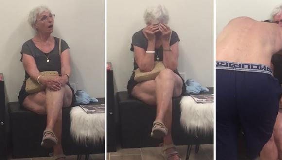 La abuela de la protagonista pasó del enojo a lágrimas de felicidad al ver lo que le tenía preparado. (Foto: theCHIVE en Facebook)