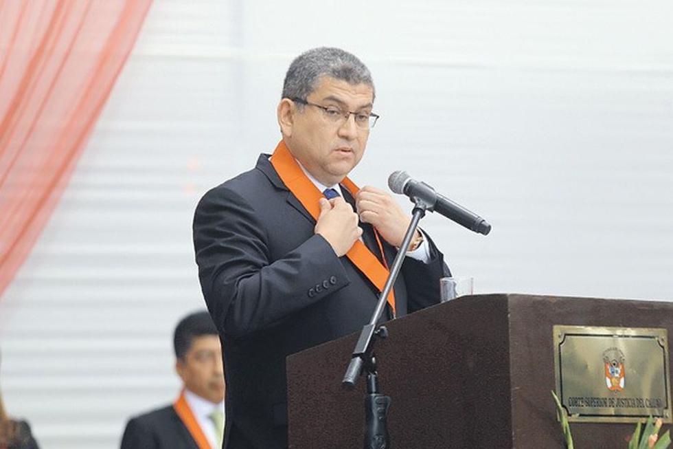 Walter Ríos es presidente de la Corte Superior del Callao. (USI)