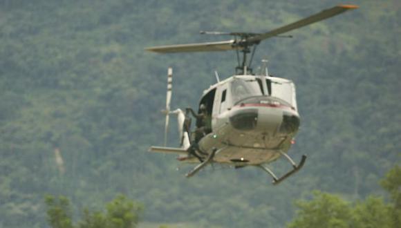 Tres personas se encontraban dentro de helicóptero. (USI/Referencial)