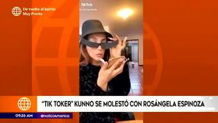 Kunno se molesta y envía fuerte mensaje a Rosángela Espinoza por vídeo de TikTok