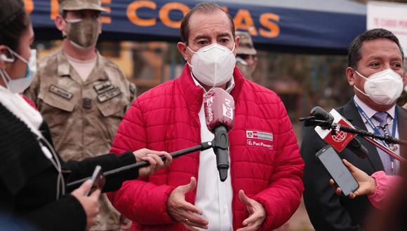 Walter Martos declaró tras supervisar un megaoperativo Tayta en el distrito de Villa El Salvador. (Foto: Ángela Ponce / GEC)