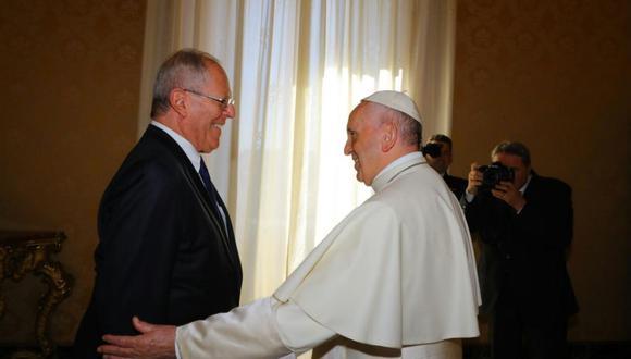 PPK y papa Francisco (Presidencia)