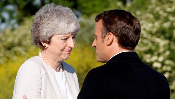 Macron aprovechó para hacer alusiones a la actualidad política y, sin citarlo, al Brexit. (Foto: EFE)