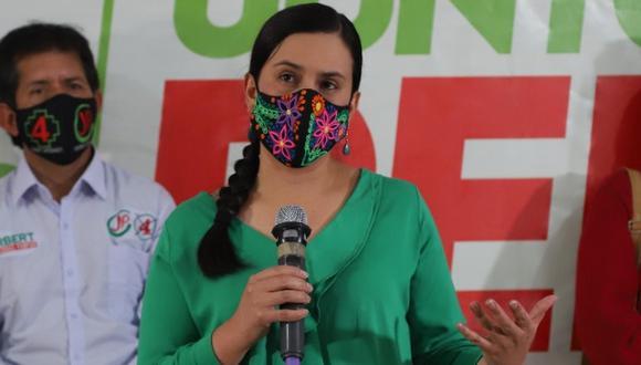 Verónika Mendoza cuestionó la difusión de información preliminar sobre los ensayos clínicos de la vacuna de Sinopharm. (Foto: Luis Centurión / GEC)