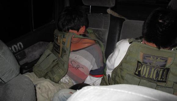 Infractores. Los adolescentes fueron detenidos por la Policía. (USI)